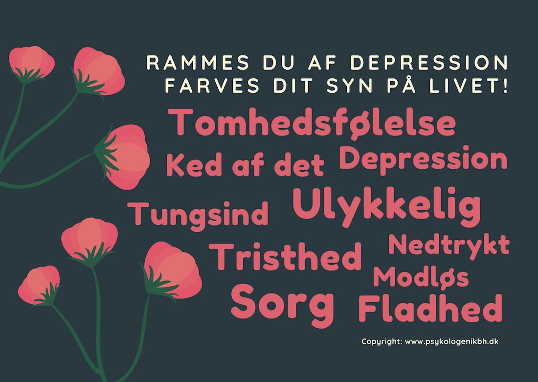 Depression: Grafik fra Psykologen i København