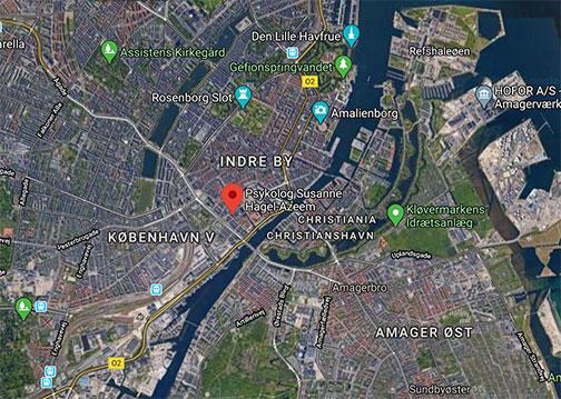 Psykolog København - Kort